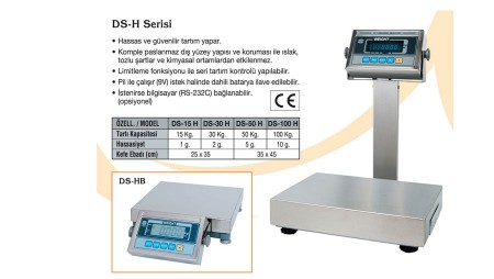 Tartım Terazi DS-H Model